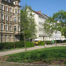 buildings in the Wilhelminian style with green space