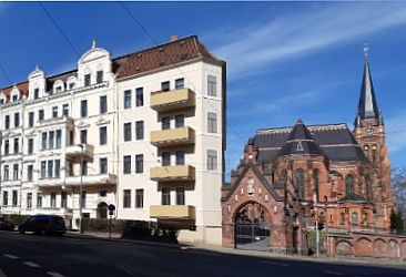 View of a house in Zittauer Straße